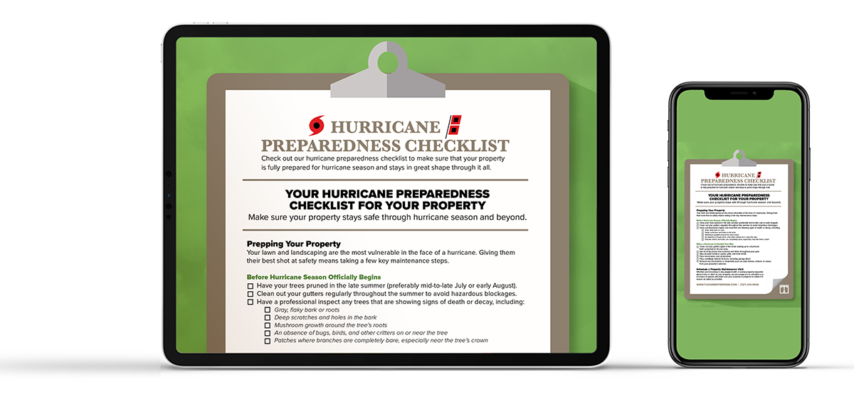hurricane preparation for your property